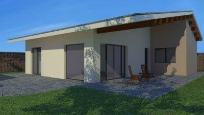 diseño casa pasiva con jardin