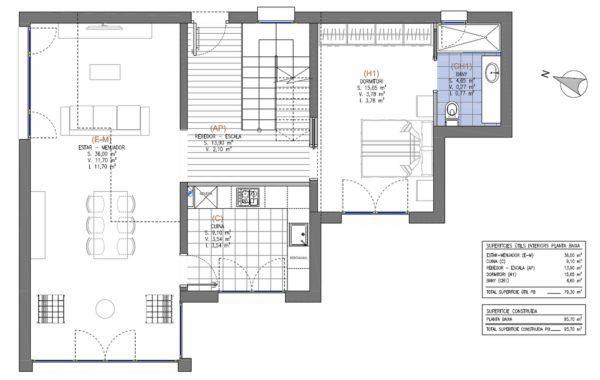 plano arquitectura casa pasiva