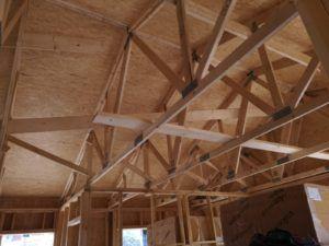 Estructura casa madera, Josman