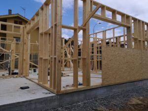 estructura de una casa de madera, Josman