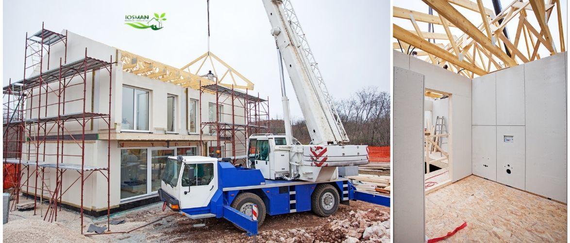Construcción de casa modular, Josman